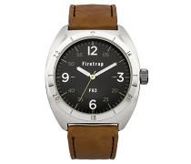 Herren-Armbanduhr Analog Quarz Leder FT2000BR