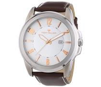 Herren-Armbanduhr XL Analog Quarz Leder 5413402