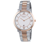 Herren-Armbanduhr XL Analog Quarz Edelstahl beschichtet 11160230