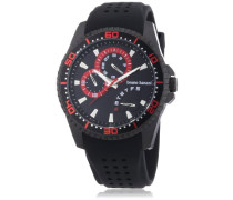 Bruno Banani Herren-Armbanduhr XL Shiva Analog Quarz Kautschuk BR22007