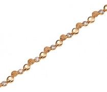 Damen-D53009Z Granit Damen-Armband vergoldet Zirkonia