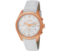 Damen-Armbanduhr Aspire Swiss Made Chronograph Quarz Leder JP101042S03