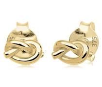 Premium Damen-Ohrstecker Knoten Basic Wiesnschmuck 375 Gelbgold - 0309830314