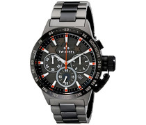 TW Steel unisex-Armbanduhr Chronograph Quarz Edelstahl beschichtet TW313