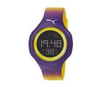 Loop L Puma Unisex-Armbanduhr Digital-Anzeige und Lila PU Strap PU910801032
