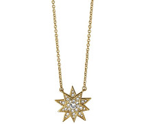 Damen Halskette Vergoldetes Metall Kristall Swarovski 336166