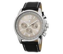 Armbanduhr für Herren mit Analog-Anzeige, Quarz-Uhr und Lederarmband - Wasserdichte Herrenuhr mit zeitlosem, schickem Design - klassische Uhr für Männer - BM608-112 Washington