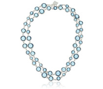 Strand Silber und Blau Halskette von 106cm