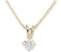Miore MC005PYD 18 Karat (750) Gelbgold Solitr Halskette mit IGI Zertifikat fr Brillant 0,50 Ct 45cm