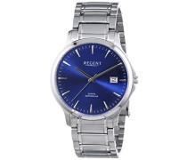 Regent Herren-Armbanduhr XL Analog Quarz Edelstahl 11150580