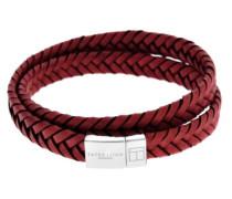 Armband Cobra Italienisches Leder, flach und Verschluss aus Sterling-Silber 925
