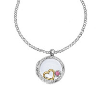 Cherish Sterling Silber 18 mm Composable Medaillon auf 46 cm Belcher Kette mit Love Treasures