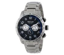 Sector Herren-Armbanduhr XL 850 Analog Quarz Edelstahl R3253575002
