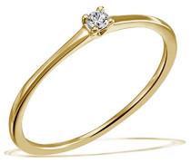 Damen-Ring Solitär Jana Solitär Ring Jana 0.05 ct. 585 Gelbgold Diamant (0.05 ct) weiß Brillantschliff