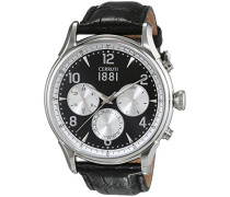 Herren-Armbanduhr BELLAGIO Analog Quarz Leder CRA107SN02BK