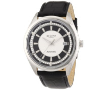 Regent Herren-Armbanduhr XL Analog Automatik Leder 11050072