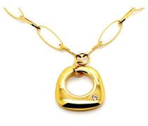 Damen-Halsband Vergoldet Zirkonia weiß MN-2011