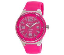 Jet Set-J53454-868-Wb30Damen-Armbanduhr-Quarz Analog-Zifferblatt Rosa Armband Kautschuk rosa