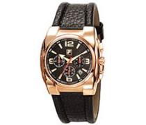 Herren-Armbanduhr Analog Quarz Leder 600725