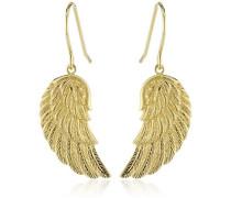 Damen-Ohrhänger Flügel 925 Silber teilvergoldet - ERE-WING-G