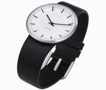 Unisex-Armbanduhr Analog Edelstahl weiss 43451
