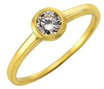 Fascination by Ellen K. Damen-Ring 8 Karat (333) Gelbgold Zirkonia weiß