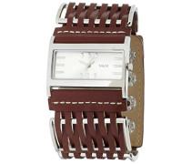 M&M Damen-Armbanduhr Analog Quarz Edelstahl beschichtet M11711-942