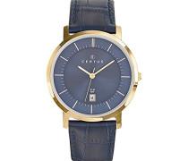 –612363–Zeigt Herren-Armbanduhr 10510262Analog Leder Blau