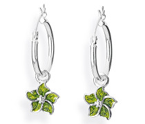 Heartbreaker Damen- Ohring Einhänger Froggy für Creolen Blüte 925 Silber Brandlack LD MR 47