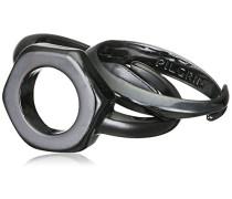 Jewelry Damen-Ring Messing aus der Serie teil hematite beschichtet, 1.3 cm