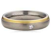Damen-Ring Titan Diamant (0.03 ct) Brillantschliff,weiß,