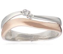 Damen-Ring 925 Sterling Silber Rot Passion Zirkonia