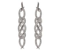 - FINEEARRING 925 Sterling-Silber  Silber Rundschliff   transparent Cubic Zirconia