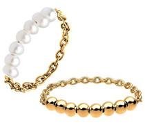 Damen-Ring Perlenring 925 Silber Süßwasserzuchtperle Weiß