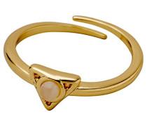 Damen-Ringe mit Rund Quarz Ringgröße 55 (17.5) 131732704