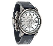 Herren-Armbanduhr 450 Chronograph Quarz Leder R3271776008
