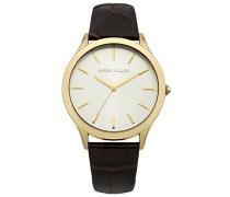 Damen-Armbanduhr Analog Quarz Leder KM106TG