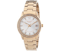 Regent Damen-Armbanduhr XS Analog Quarz Edelstahl beschichtet 12210925