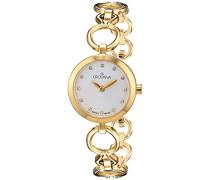 Damen-Armbanduhr Analog Quarz Edelstahl beschichtet 4569.1112