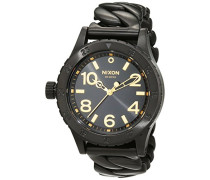 Nixon Damen-Armbanduhr Analog Quarz Edelstahl A4102317