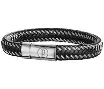 POLICE Herren-Armband TACKLE Leder 20 cm - PJ25505BLB-01-S