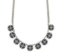 Silber, Light Sapphire Kristall silberfarben und blau emailliert Halsband Halskette 16 Zoll benachbarten von 40-48 cm