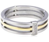 Damen-Ring Titan Bicolor 5 Brillianten 0,025