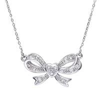 Damen-Halskette 9 Karat 375 Weißgold Diamant 460 mm PNE01960W