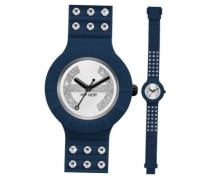 HIP HOP Uhren CRYSTAL Damen Uhrzeit Blau - hwu0486