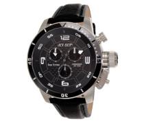 Herren-Armbanduhr San Remo Chronograph Quarz Leder J91101-230