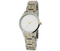 M&M Damen-Armbanduhr Analog Quarz Edelstahl M11602-141