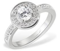 Damen-Ring PremiumShine 925 Sterlingsilber 36 Zirkonia