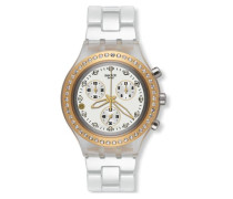 Swatch Quarzuhr Woman Unisex Full-Blooded Marvelous Yellow 43 mm