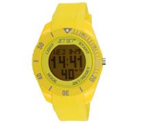 –J93491–19–Bubble–Armbanduhr–Quarz Digital–Zifferblatt Gelb Armband Kautschuk gelb
